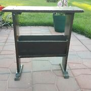 Vintage Wooden Farm House Barn Woodtable Plant Stand Home Decor Shabby Chic Rust