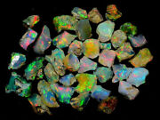 A++ Play Of Color Welo Ethiopian Opal Rough Lot 100 Natural Gemstones 300cts