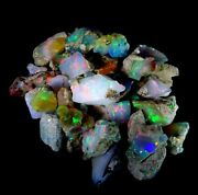 Ethiopian Opal Rough Lot Rianbow Fire Flash100 Natural Gemstones 200cts