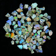 Play Of Color Ethiopian Fire Opal Rough Lot 100 Natural Gemstones 300cts