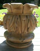 Very Large Reclaimed Carved Stand Finial Furniture Part Newel Post Lamp Base