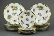 Herend Queen Victoria Plate Set For Six People 18 Pieces