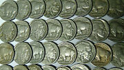 Lot Of 100 Full Date Buffalo Nickels 1934-1937 Circulated Coins M.rm.2