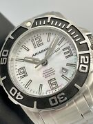 Aragon Depth-finder Df-45 T100 31 Tritium Tubes 45mm Automatic Mother Of Pearl