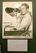 Alfred Hitchcock And James Steward Rear Window Rare Autograph And Photo