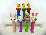 Lot Of 7 Pez Dispensers Easter Spring Bunny Rabbit Lamb Chick