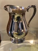 Wm Rogers Silver Plated Water Pitcher 817 Vintage And Ice Guard 9andrdquotall