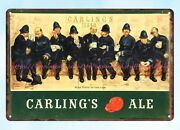 House Decor 1940s Carling's Ale Brewing Corporation Of America Metal Tin Sign