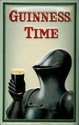 Guinness Armour Tin Sign Shield 3d Embossed Arched 7 7/8x11 13/16in