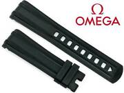 Omega Seamaster 300m Replacement Black Rubber Watch Band 20mm Cvz010482 New Oem