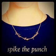 Kate Spade Spike The Punch Necklace Nwt Say Yes Collection Witty Irreverence