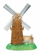 Crystal 3d Puzzle Windmill 64 Pieces Free Shipping With Tracking New Japa