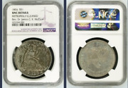 1856 Seated Liberty Silver Dollar Ngc Unc Super Fast Shipping