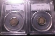 1820 Large 0 And 1832 Capped Bust Dimes Pcgs Vg08 Super Fast Shipping