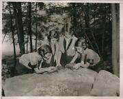 1936 Press Photo Camp Fire Girls On Their Summer Activities At Camp Arden N.y
