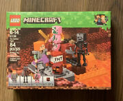 Lego 21139 The Nether Fight Minecraft Alex Skeleton Zombie Cube Factory Sealed