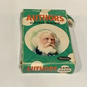 Vtg 1950s Whitman Authors Card Game No. 4110 44 Author Cards Missing Instruction