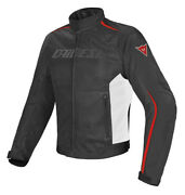 Jacket Dainese Hydra Flux Black White Red Size 46 Moto Perforated Waterproof
