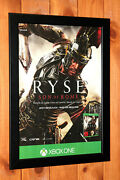 Ryse Son Of Rome Xbox One Old Rare Small Promo Poster / Ad Page Framed