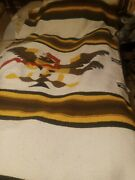 Vintage Large Mexican Blanket Eagle Snake Very Clean Bright Very Nice 💯
