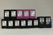 Lot Of 13 Hp63 Hp61 Canon 240xxl Empty Black Tricolor Used Ink Cartridges