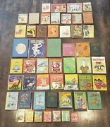 Huge Lot Of 52 Vintage And Antique Childrens Books. Free Shipping.