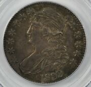 Pcgs Au53 1832 Capped Bust Silver Half Dollar 50c - Small Letters