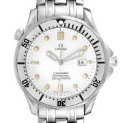 Omega Seamaster 300m White Wave Dial 41mm Mens Watch 2542.20.00
