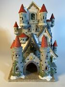 Dickens Collectables Classic Series Large Castle Porcelain Lighted Houses