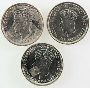 Hong Kong British Colony- George Vi 1937 1939 H And 1939 Kn 5 Cents. Au-unc