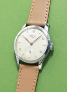 Longines Round Style Cal.12.68z Ss Snap Back Case 34.3mm Manual 1950s