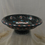 11and039and039 Marble Fruit Bowl Inlaid Pauashell Rare Stone Cyber Monday Decoration H3775