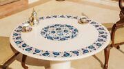 36 Marble Center Dining Table Top With 18 Stand Lapis Floral Inlay Decor W268a