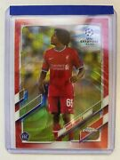 2021 Topps Chrome Uefa Champions League Yasser Larouci Rc Red Wave Refractor /5