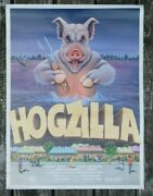1970's Hogzilla Memphis In May International Bbq Cooking Contest Team Poster