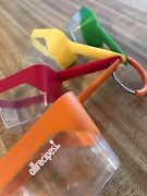 Measuring Cups Allrecipes Vintage Nesting 4 Colorful/clear/plastic