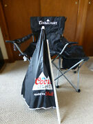 Coors Light Portable Folding Chair And Umbrella New Tailgate Beach Camping