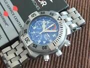 Secto Diving Team 1000 Titanium Chronograph Automatic Menand039s Watch 1990-2000and039s