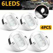4x Waterproof White Round Boat Marine Led Stern Lights Cabin Deck Courtesy Lamps