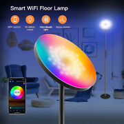 Smart Floor Lamp Sky Super Bright Wifi Lamp Rgb Led Dimmable Torchiere For Alexa