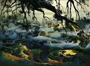 Fog Passes By Eyvind Earle Signed Serigraph 30x40