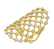 1.50ct Natural Round Diamond 14k Solid Yellow Gold Cluster Ring Size 7 To 9