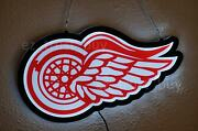 New Detroit Red Wings Logo Man Cave 2d Led Light Lamp Neon Sign 20