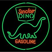 New Sinclair Dino Gasoline Gas Station Lamp Neon Light Sign 24x24