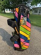Loudmouth Lightning Rod Golf Cart Bag - Never Used - Nwt Hard To Find Pattern
