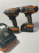 Rigid Hammer Drill And Impact Driver Combo, Includes Battery And Charger