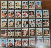 Cleveland Indians 1964 Topps Lot Of 34 Baseball Cards