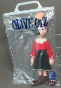 Vintage Dakin Olive Oyl Popeye Jointed Figure Mint In Bag W/tag 1970and039s Hong Kong