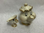 Lenox Mrs. Pots And Chip Right On Time Beauty And The Beast Disney Figurine