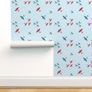 Removable Water-activated Wallpaper Aeroplane 1940s Wartime Retro Nostalgic